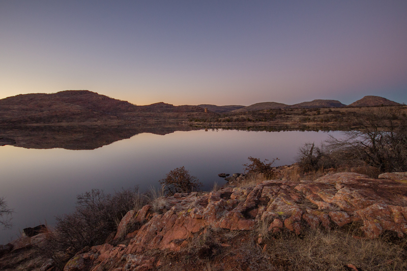 Jed Johnson Lake wichita mountains