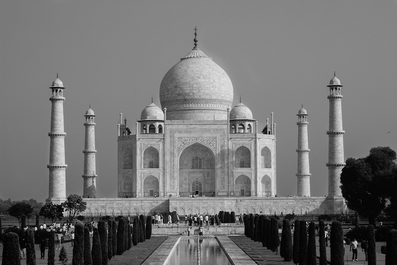 Taj Mahal in Black and White