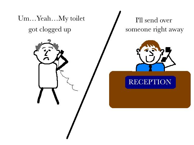 toilet hotel cartoon