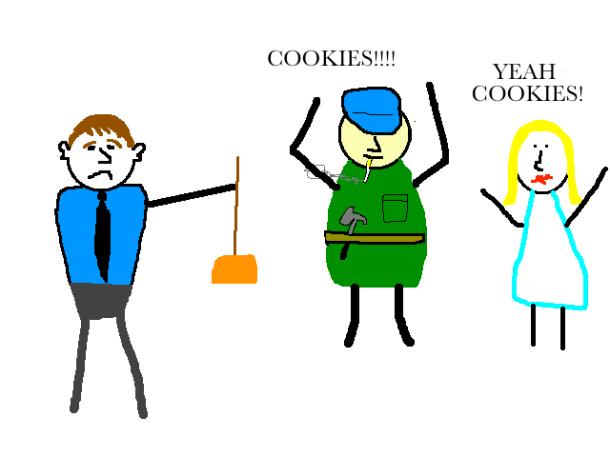 Cookies in the break room cartoon