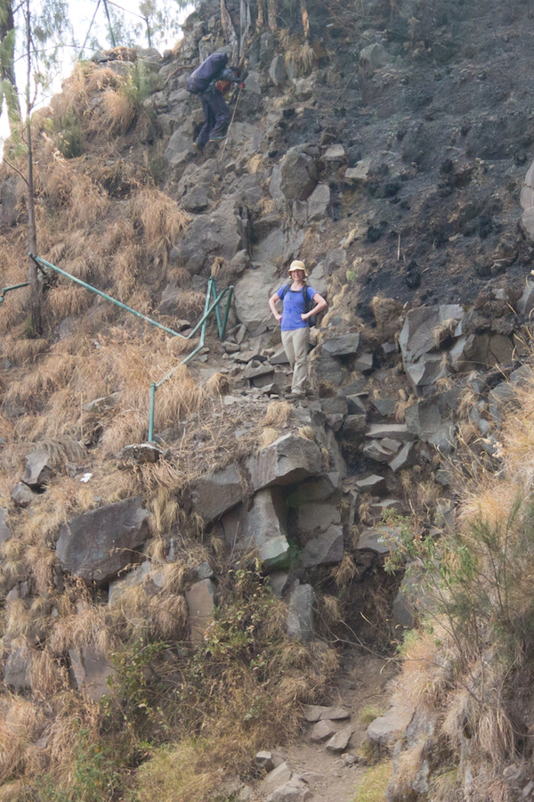Rinjani trekking trail.