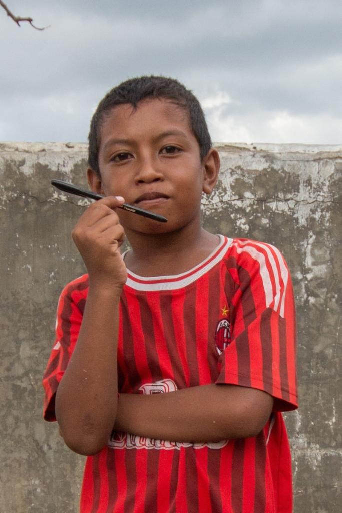 local school boy in Rinca