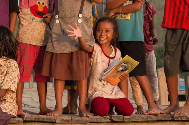 Kids in Rinca