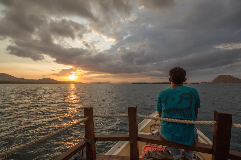 Rinca island sunset