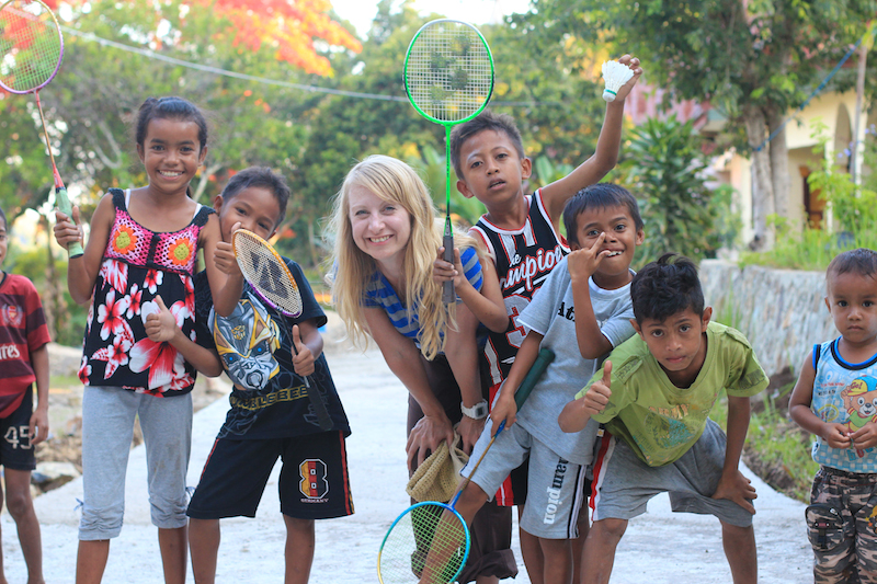Friendly Indonesian Kids Planet Bell