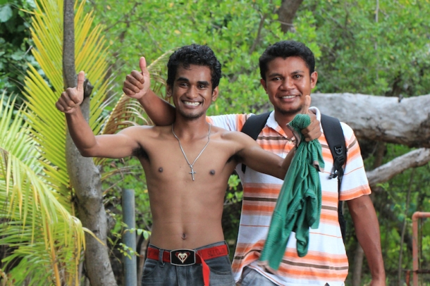 Friendly people on Flores