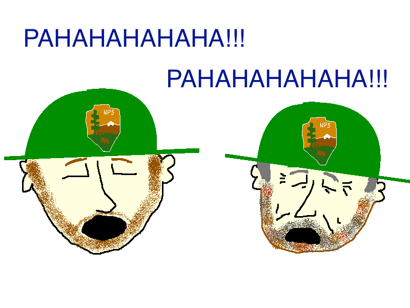 Bear spray park rangers laughing