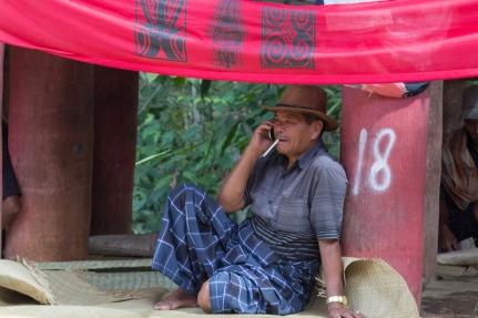 Man at a Toraja funeral