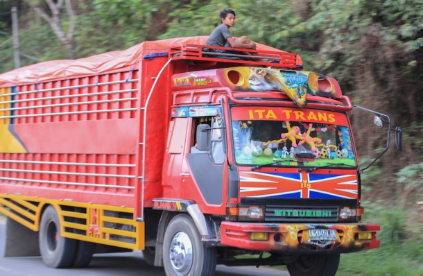 Indonesia painted truck