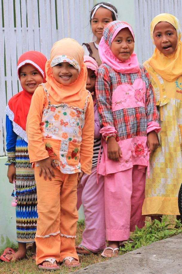 Mulsim girls in Pantai Bira