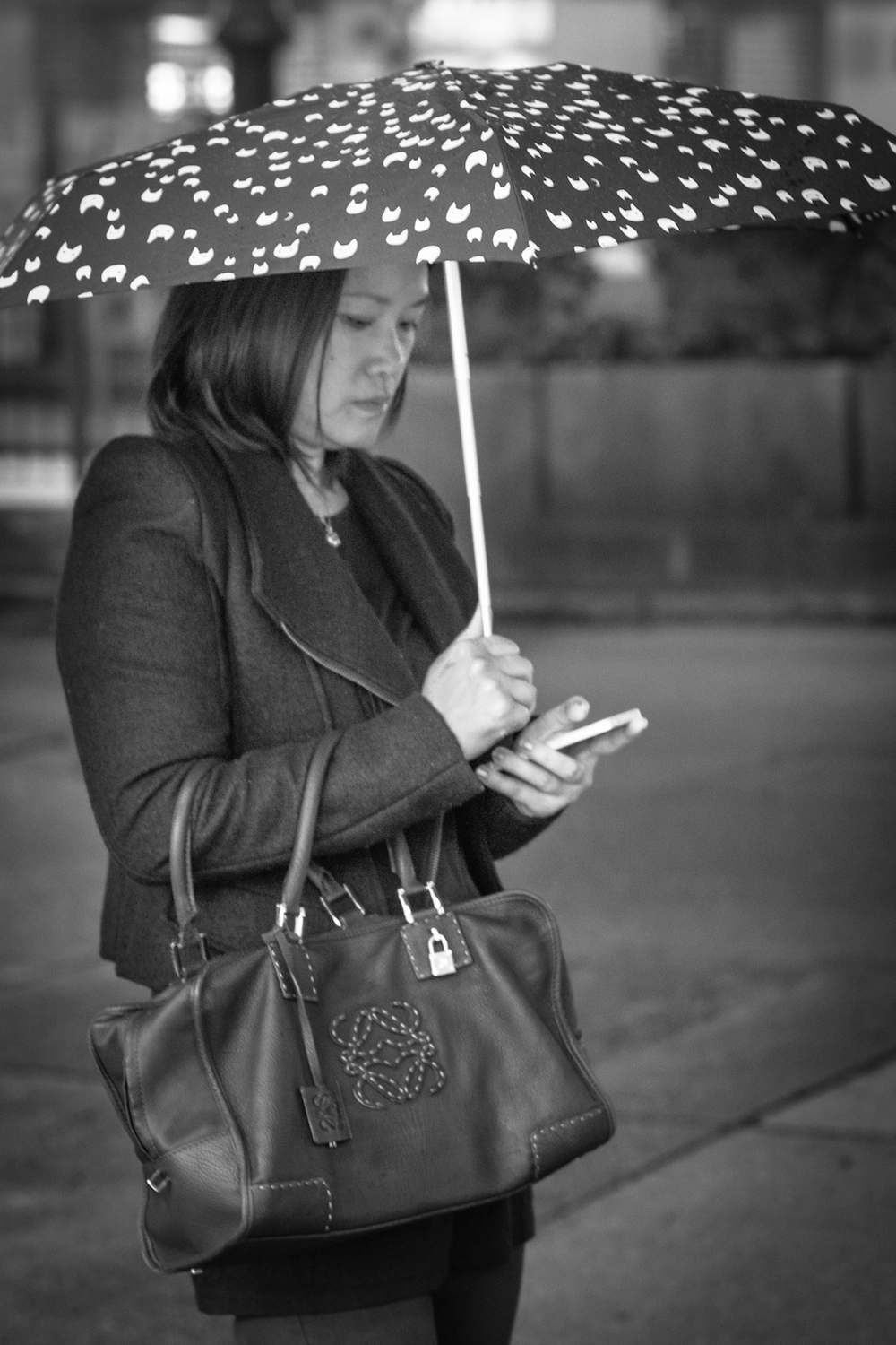 Hong Kong Lady with umbrella