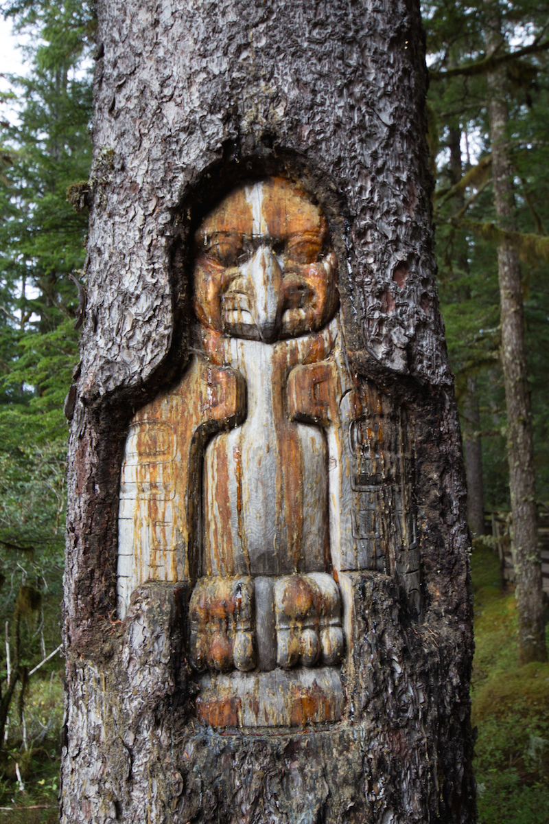 A Tlingit carving
