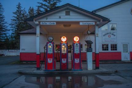 Gustavus gas station.