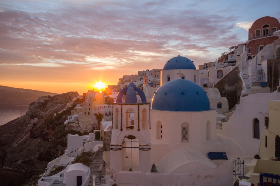 Santorini, Greece sunset