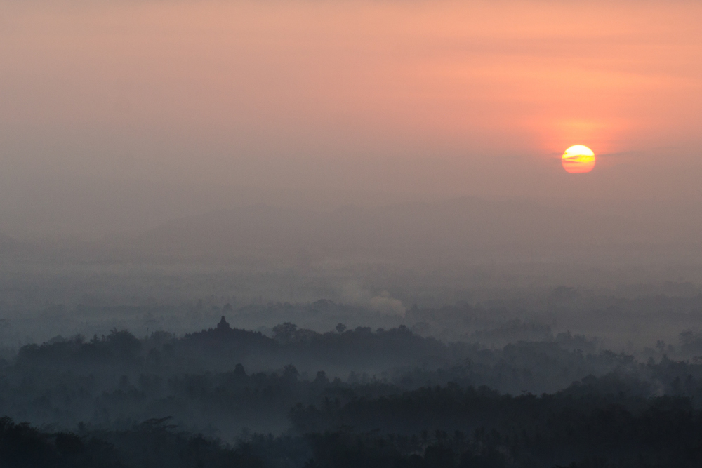 Borobudor Indonesia Temple Sunrise