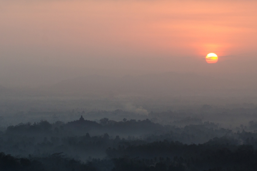 Borobudor Indonesia Temple Sunrise