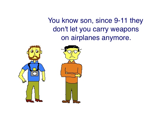 Weapons on airplanes cartoon