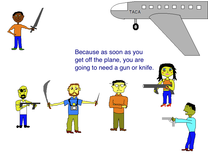 Guatemala Airport Security Cartoon