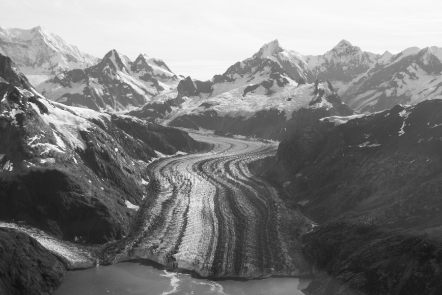 John Hopkins Glacier flight-seeing