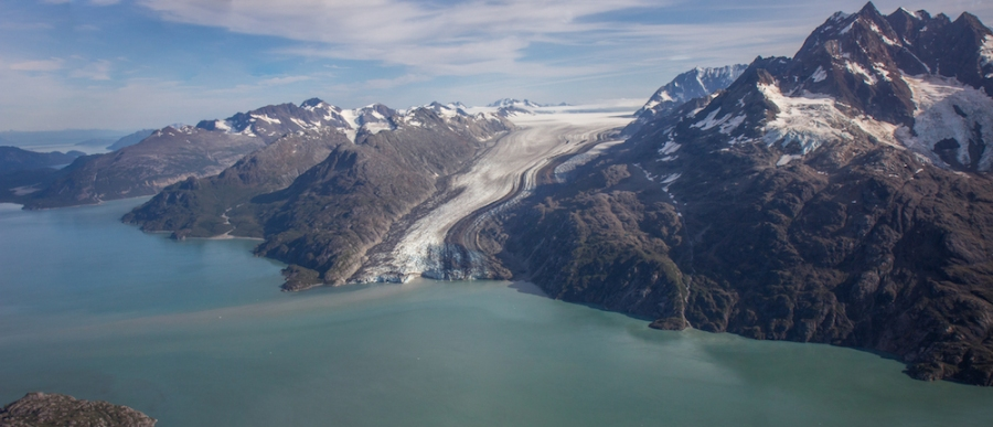 Lamplugh Glacier Flight Seeing