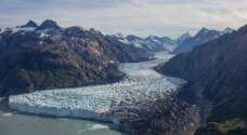 Marjerie Glacier from above.
