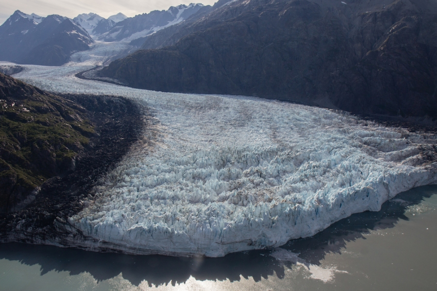 Flying over Marjerie Glacier