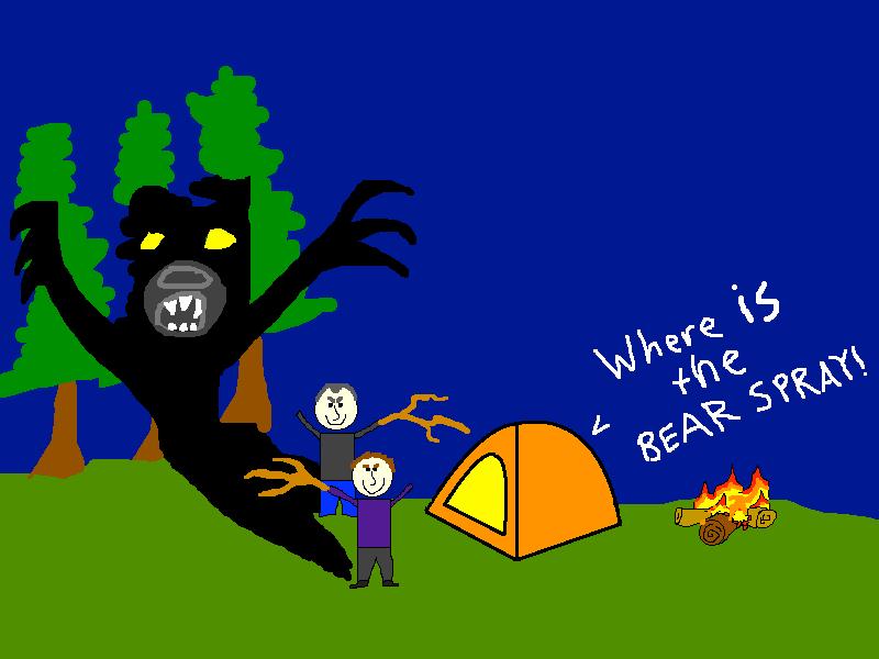 Glacier Bay Bear Attack Cartoon
