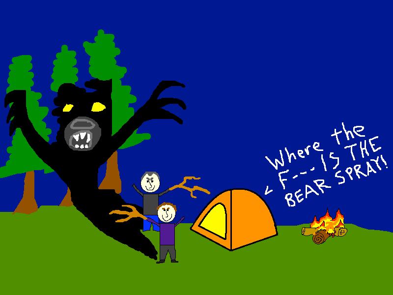 Glacier Bay bear attack tent
