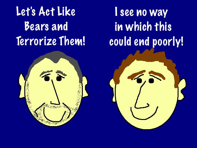 Bear Attacks Campsite Cartoon in Glacier Bay