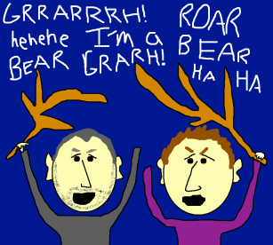 Bear Attacks Campsite Cartoon