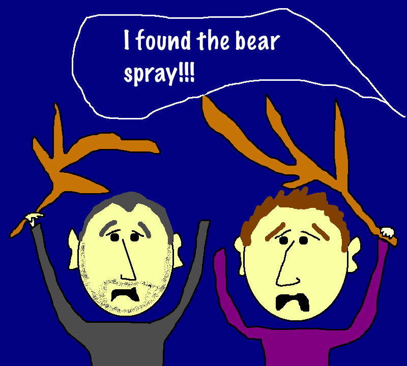 Bear attack cartoon