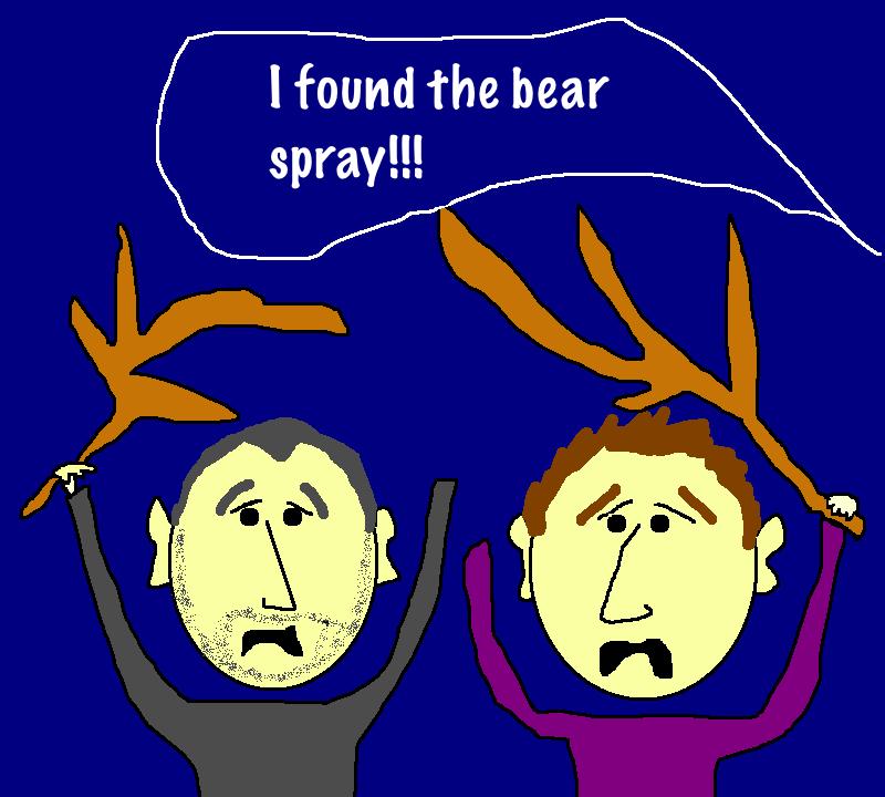 Bear attack cartoon