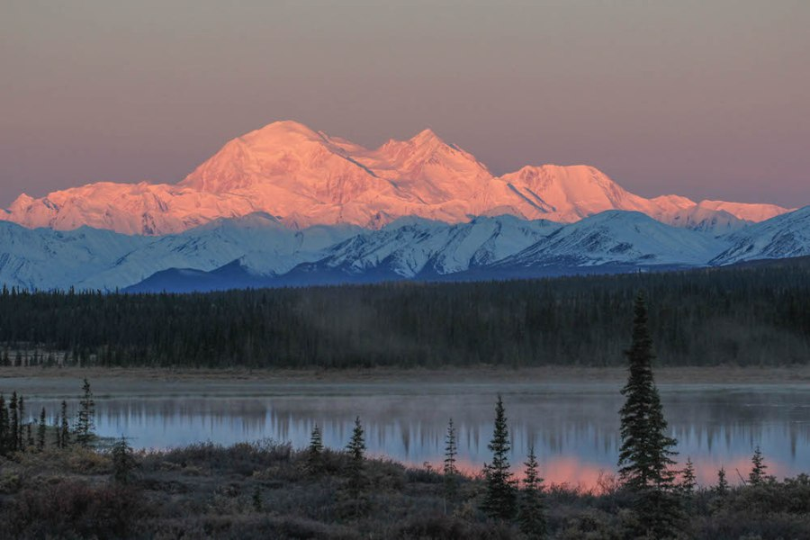 Denali at sunrsie