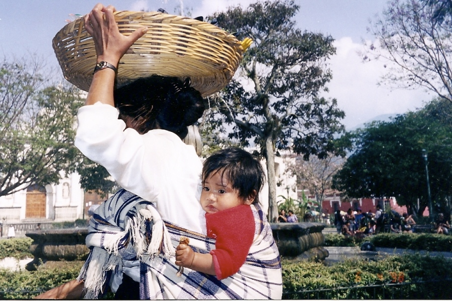 boy and mother Guatemala