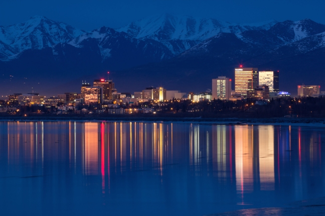 Downtown Anchorage from Airport Park