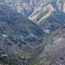 A Tarahumara village in the canyon. All residents get there by foot
