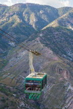The Copper Canyon cable car
