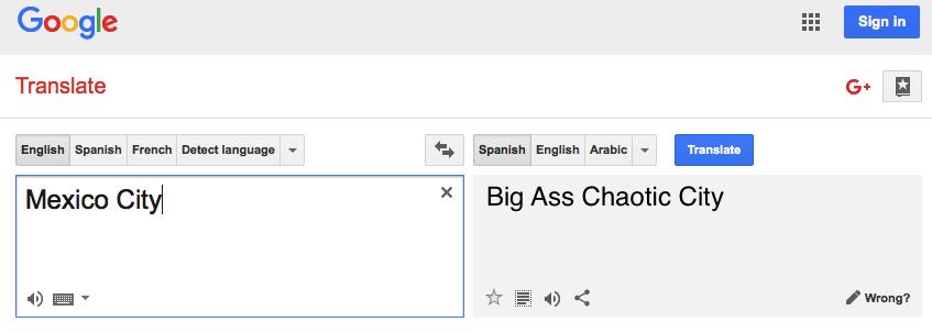 Mexico City translation