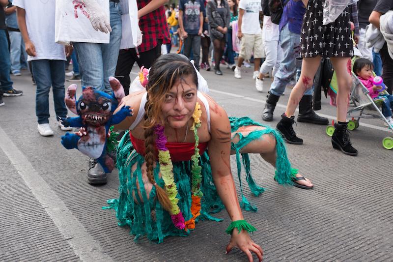 Zombie parade girl