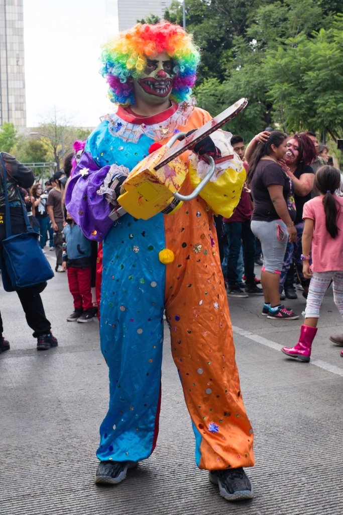 Mexico City clown zombie