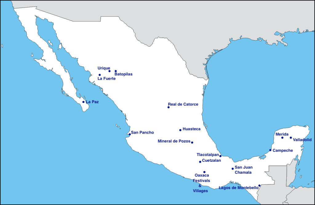 Mexico Off the beaten path map