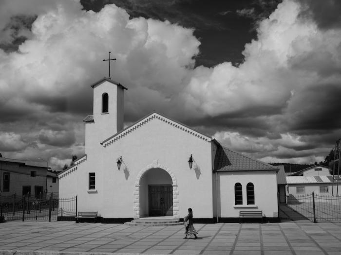 Creel church black and white
