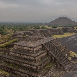 Teotihuacan in the rain