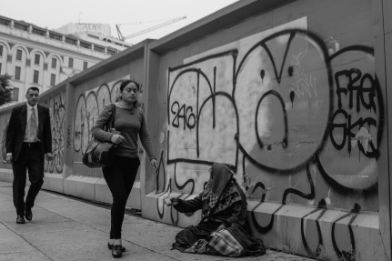 Mexico City beggar