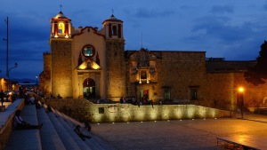 Oaxaca Church Sunset