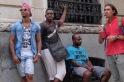 Cuban men hanging out in Havana