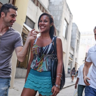 Cubans on Obispo street