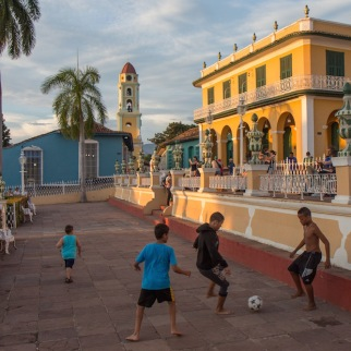 Soccer match in Trinidad