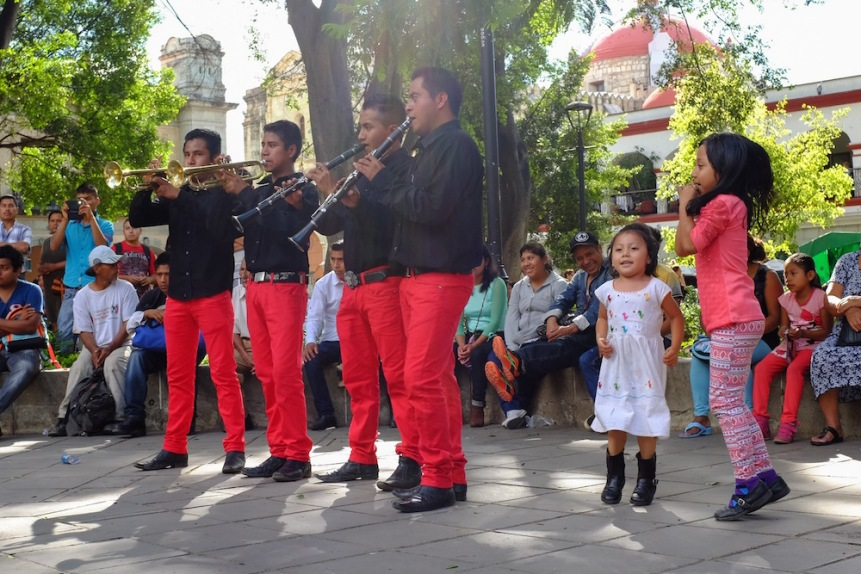 Day of the Dead band in the Oaxaca zocalo