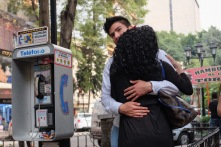 Hugging Mexico City Street photo